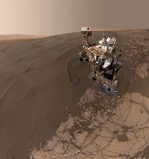 Curiosity Mars Rover selfie - Namib Dune by withsilverwings