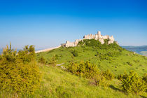 The ruined Spiš Castle in Slovakia on a sunny day von Sara Winter