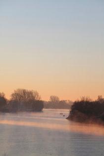Bremen : Morgennebel an der Weser von Torsten Krüger