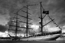 Portuguese tall ship by Gaspar Avila