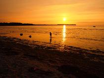 Sonnenuntergang über der Wismarer Bucht von Christoph Stempel