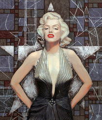 """Marilyn Monroe, portrait from """"Old Hollywood"""" series by clipso-callipso"""