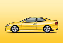Holden Monaro (VZ) CV8 Yellow by monkeycrisisonmars