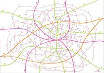 Imaginary transport network von Jeroen Hollander