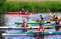 Burton Canoe Race, The Start von Rod Johnson
