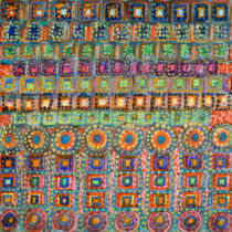 Marvellous Rows of Squares and Circles with Points by Heidi  Capitaine