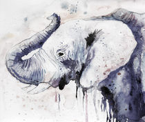 Elephant, watercolor, nature, animals von Luba Ost