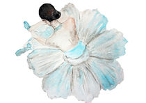 Ballet girl, flower by Luba Ost