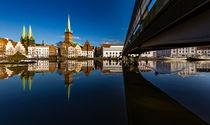 Die Brücke zur Obertrave by Johann Stubhan