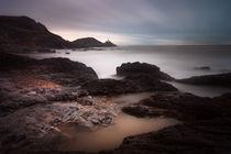 Mumbles lighthouse and Bracelet Bay von Leighton Collins