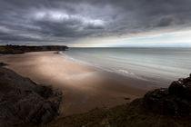 Stormy Three Cliffs Bay von Leighton Collins