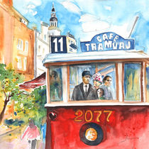 Cafe Tramvaj In Prague von Miki de Goodaboom