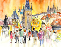 Charles Bridge In Prague von Miki de Goodaboom