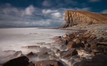 The 'Welsh Sphinx' at Nash Point  by Leighton Collins