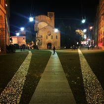Piazza Santo Stefano by night von Azzurra Di Pietro