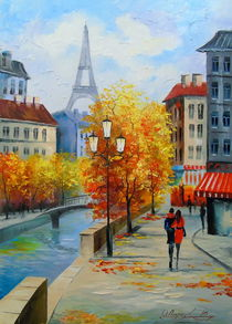 Autumn in Paris von Olha Darchuk