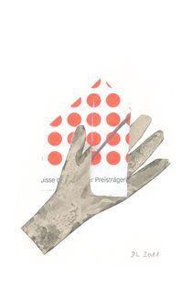 Hand mit roten Punkten von Doris Lasar