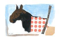 Pferd mit roten Punkten von Doris Lasar