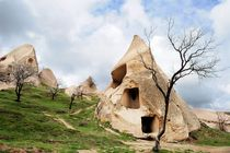 Here lived the Christian hermits, V century ad. Turkey, Cappadocia von Yuri Hope