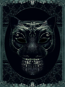 Creepy Mask Portrait with Ornate Borders by Daniel Ferreira Leites Ciccarino