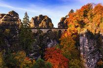 Die Bastei im Herbstgewand von moqui