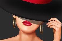 Die Lady mit dem Hut von der Rennbahn by Monika Juengling