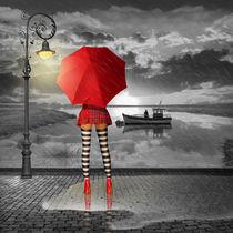 Sexy Steifen unterm Regenschirm by Monika Juengling
