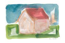 Haus in Landschaft von Doris Lasar