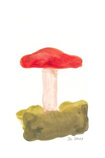 Pilz, rot von Doris Lasar