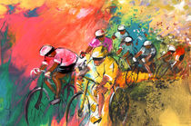The Yellow River Of The Tour De France von Miki de Goodaboom