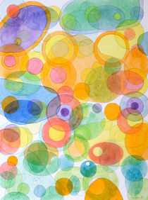 Vividly interacting Circles Ovals and Free Shapes von Heidi  Capitaine