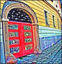 Painted Door Archway by Sandra  Vollmann