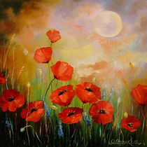 Poppies in the moonlight by Olha Darchuk