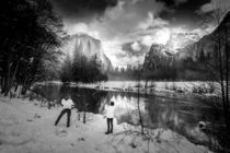 Inside Yosemite National Park in Black and White by louloua-asgaraly