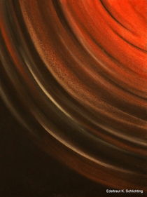 Farbenspiel Energie rot/schwarz Nr.1 a von Edeltraut K.  Schlichting