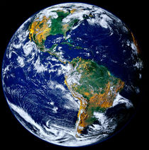 Full Earth Showing The Americas. by Stocktrek Images