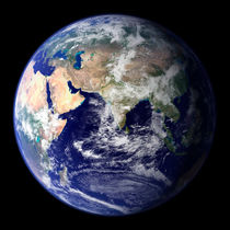Earth from space showing the eastern hemisphere.