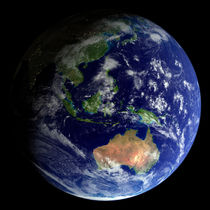 Full Earth from space showing Australia von Stocktrek Images