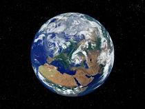 Fully lit Earth centered on Europe. von Stocktrek Images