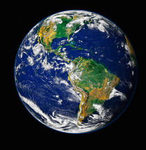 Full Earth showing the western hemisphere. von Stocktrek Images