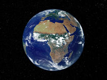 Full Earth Showing Africa and Europe. by Stocktrek Images