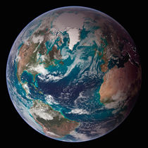 A full view of Earth showing global data. von Stocktrek Images