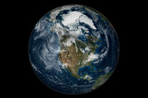 Full Earth showing North America. by Stocktrek Images
