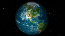 Full Earth view showing North America. von Stocktrek Images