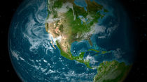 View of Central and North America. von Stocktrek Images