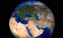 Earth showing the Middle East. von Stocktrek Images