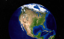 Earth showing North America. von Stocktrek Images