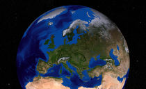 Earth showing Europe. von Stocktrek Images