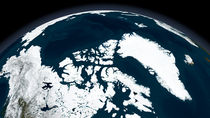 View over Greenland and the Arctic Ocean.  von Stocktrek Images