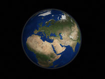 Earth view of Africa, Europe, Middle East & India. von Stocktrek Images